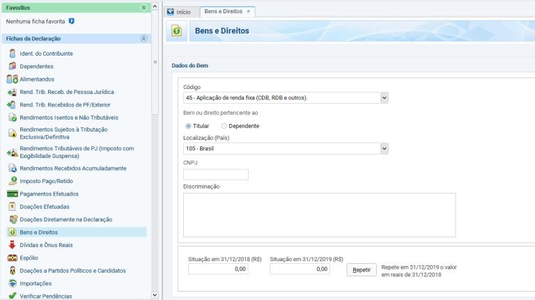 """selecione o item """"Aplicação de Renda Fixa (CDB, RDB e outros)"""