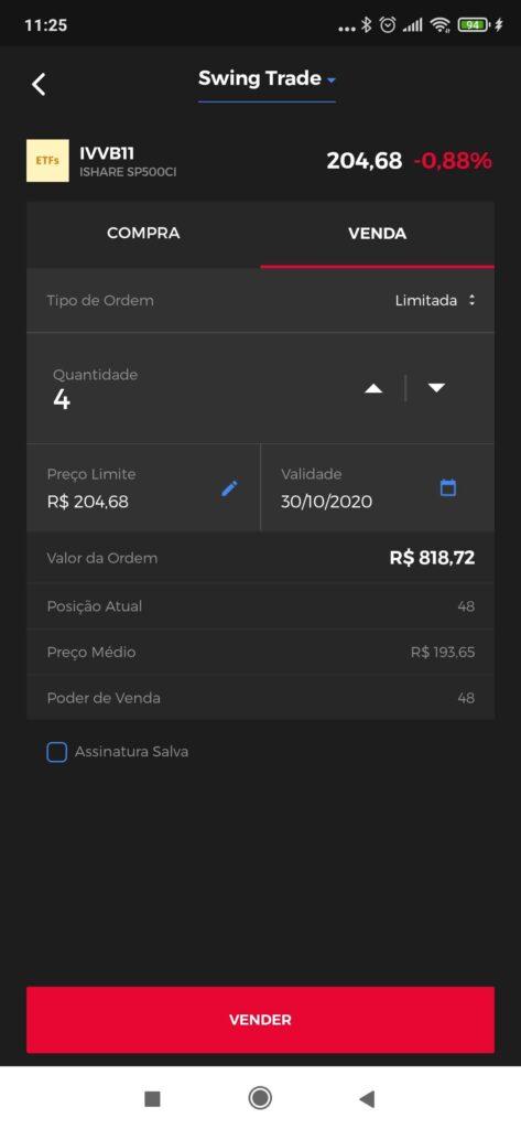 Tela de venda - Clear Mobile