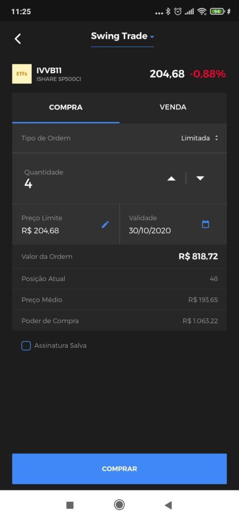 Tela de compra - Clear Mobile