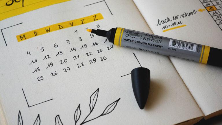 calendario financeiro - organização financeira