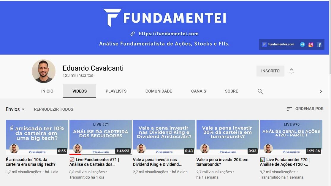 Eduardo Cavalcanti, do Fundamentei, analisou minha carteira ao vivo!